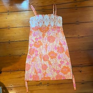 Lilly Pulitzer- vintage crochet dress